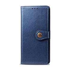 Custodia Portafoglio In Pelle Cover con Supporto L01 per Realme 5i Blu