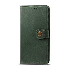 Custodia Portafoglio In Pelle Cover con Supporto L01 per Realme 5i Verde