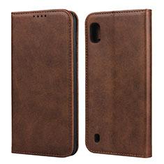 Custodia Portafoglio In Pelle Cover con Supporto L01 per Samsung Galaxy A10 Marrone