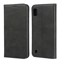 Custodia Portafoglio In Pelle Cover con Supporto L01 per Samsung Galaxy A10 Nero