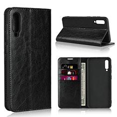 Custodia Portafoglio In Pelle Cover con Supporto L01 per Samsung Galaxy A30S Nero