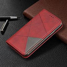 Custodia Portafoglio In Pelle Cover con Supporto L01 per Samsung Galaxy A31 Rosso