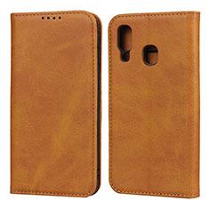 Custodia Portafoglio In Pelle Cover con Supporto L01 per Samsung Galaxy A40 Arancione