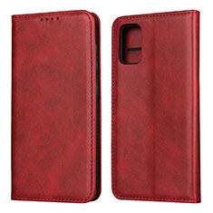 Custodia Portafoglio In Pelle Cover con Supporto L01 per Samsung Galaxy A41 Rosso