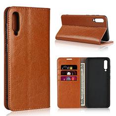 Custodia Portafoglio In Pelle Cover con Supporto L01 per Samsung Galaxy A50 Arancione