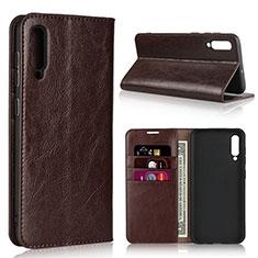 Custodia Portafoglio In Pelle Cover con Supporto L01 per Samsung Galaxy A50 Marrone
