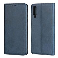 Custodia Portafoglio In Pelle Cover con Supporto L01 per Samsung Galaxy A70 Blu