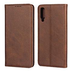 Custodia Portafoglio In Pelle Cover con Supporto L01 per Samsung Galaxy A70 Marrone