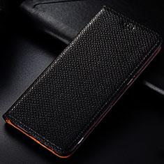 Custodia Portafoglio In Pelle Cover con Supporto L01 per Samsung Galaxy A81 Nero