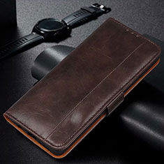 Custodia Portafoglio In Pelle Cover con Supporto L01 per Samsung Galaxy M21 Marrone
