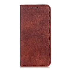 Custodia Portafoglio In Pelle Cover con Supporto L01 per Samsung Galaxy M21s Marrone