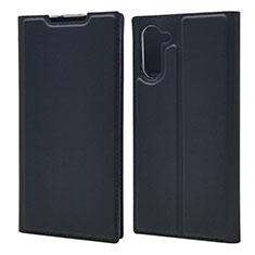 Custodia Portafoglio In Pelle Cover con Supporto L01 per Samsung Galaxy Note 10 5G Nero