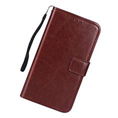 Custodia Portafoglio In Pelle Cover con Supporto L01 per Samsung Galaxy S10 Lite Marrone