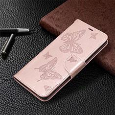 Custodia Portafoglio In Pelle Cover con Supporto L01 per Samsung Galaxy S20 FE 5G Oro Rosa