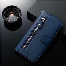 Custodia Portafoglio In Pelle Cover con Supporto L01 per Samsung Galaxy S20 Plus 5G Blu