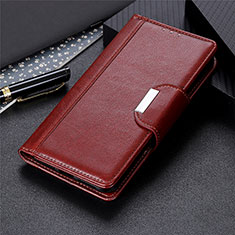 Custodia Portafoglio In Pelle Cover con Supporto L01 per Samsung Galaxy S21 Ultra 5G Marrone