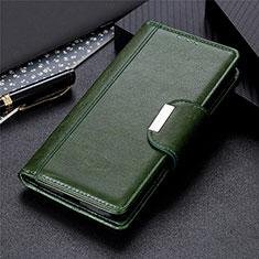 Custodia Portafoglio In Pelle Cover con Supporto L01 per Samsung Galaxy S21 Ultra 5G Verde
