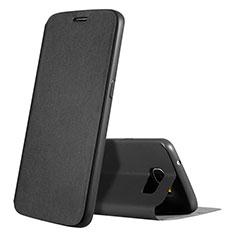 Custodia Portafoglio In Pelle Cover con Supporto L01 per Samsung Galaxy S7 Edge G935F Nero
