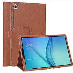 Custodia Portafoglio In Pelle Cover con Supporto L01 per Samsung Galaxy Tab S5e 4G 10.5 SM-T725 Marrone