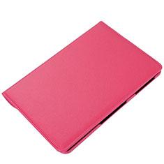 Custodia Portafoglio In Pelle Cover con Supporto L01 per Samsung Galaxy Tab S6 Lite 4G 10.4 SM-P615 Rosa Caldo