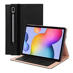 Custodia Portafoglio In Pelle Cover con Supporto L01 per Samsung Galaxy Tab S7 4G 11 SM-T875 Nero