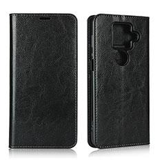 Custodia Portafoglio In Pelle Cover con Supporto L01 per Sharp AQUOS Sense4 Plus Nero