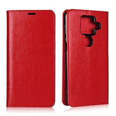 Custodia Portafoglio In Pelle Cover con Supporto L01 per Sharp AQUOS Sense4 Plus Rosso