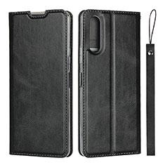 Custodia Portafoglio In Pelle Cover con Supporto L01 per Sony Xperia 10 II Nero