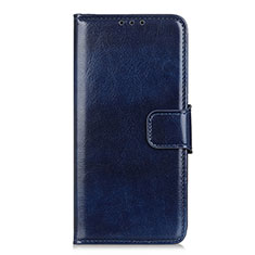 Custodia Portafoglio In Pelle Cover con Supporto L01 per Sony Xperia 5 II Blu