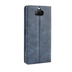 Custodia Portafoglio In Pelle Cover con Supporto L01 per Sony Xperia 8 Lite Blu