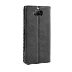 Custodia Portafoglio In Pelle Cover con Supporto L01 per Sony Xperia 8 Nero