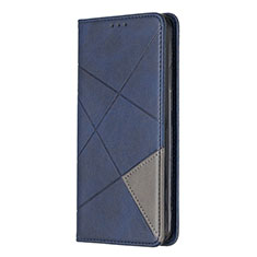 Custodia Portafoglio In Pelle Cover con Supporto L01 per Sony Xperia L4 Blu