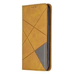 Custodia Portafoglio In Pelle Cover con Supporto L01 per Sony Xperia L4 Giallo