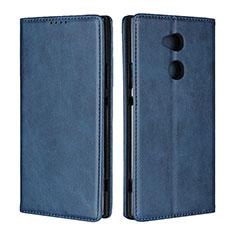 Custodia Portafoglio In Pelle Cover con Supporto L01 per Sony Xperia XA2 Ultra Blu