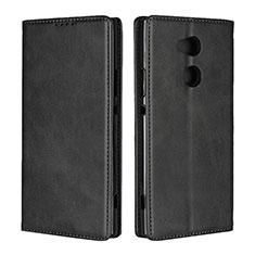 Custodia Portafoglio In Pelle Cover con Supporto L01 per Sony Xperia XA2 Ultra Nero