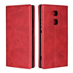 Custodia Portafoglio In Pelle Cover con Supporto L01 per Sony Xperia XA2 Ultra Rosso