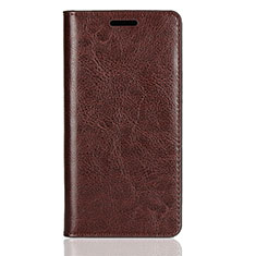 Custodia Portafoglio In Pelle Cover con Supporto L01 per Sony Xperia XZ2 Compact Marrone