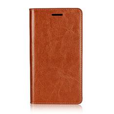 Custodia Portafoglio In Pelle Cover con Supporto L01 per Sony Xperia XZ2 Premium Arancione