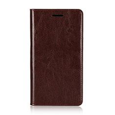 Custodia Portafoglio In Pelle Cover con Supporto L01 per Sony Xperia XZ2 Premium Marrone