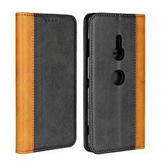 Custodia Portafoglio In Pelle Cover con Supporto L01 per Sony Xperia XZ3 Nero