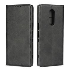 Custodia Portafoglio In Pelle Cover con Supporto L01 per Sony Xperia XZ4 Nero