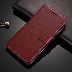 Custodia Portafoglio In Pelle Cover con Supporto L01 per Vivo X50 Lite Marrone