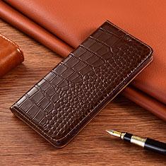 Custodia Portafoglio In Pelle Cover con Supporto L01 per Vivo X50e 5G Marrone