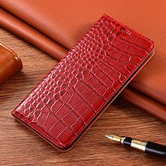 Custodia Portafoglio In Pelle Cover con Supporto L01 per Vivo X50e 5G Rosso