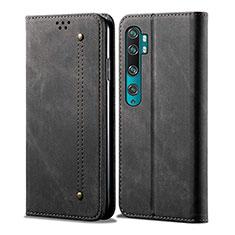 Custodia Portafoglio In Pelle Cover con Supporto L01 per Xiaomi Mi Note 10 Nero