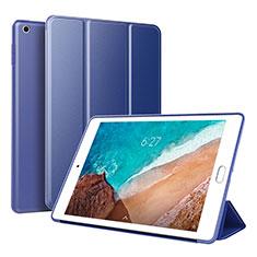 Custodia Portafoglio In Pelle Cover con Supporto L01 per Xiaomi Mi Pad 4 Plus 10.1 Blu