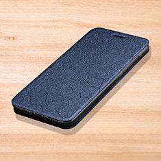 Custodia Portafoglio In Pelle Cover con Supporto L01 per Xiaomi Redmi Note 7 Blu