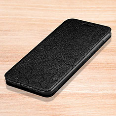 Custodia Portafoglio In Pelle Cover con Supporto L01 per Xiaomi Redmi Note 7 Pro Nero