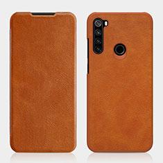 Custodia Portafoglio In Pelle Cover con Supporto L01 per Xiaomi Redmi Note 8 Marrone