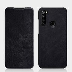 Custodia Portafoglio In Pelle Cover con Supporto L01 per Xiaomi Redmi Note 8 Nero